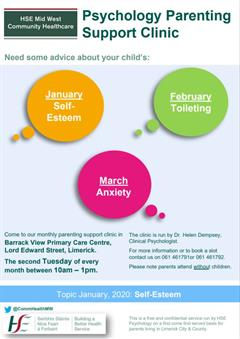 Primary Care Child and Family Psychology Service Parent Workshops & Support Clinics.