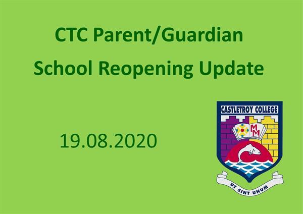 CTC Parent/Guardian Information 19.08.2020