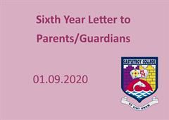 Sixth Year Parents Letter 01.09.2020