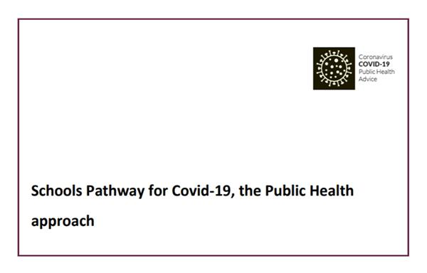 Schools Pathway for Covid-19, the Public Health Approach.