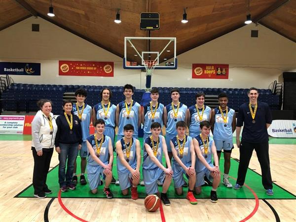 U19 Boys Basketball Team place third in All Ireland League at Tallaght Stadium