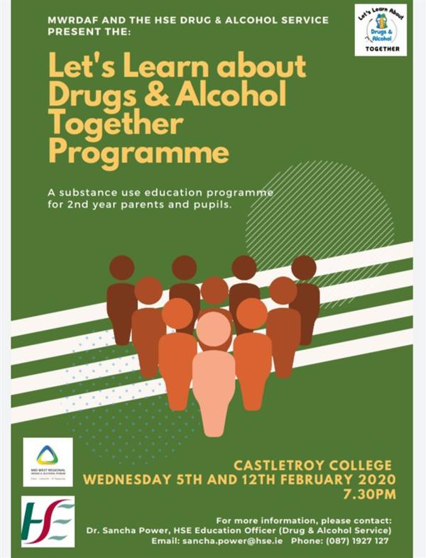Lets Learn About Drugs & Alcohol Together Programme