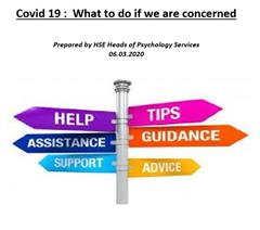 Advice on discussing Covid-19 with children and young people prepared by HSE Heads of Psychology Services.