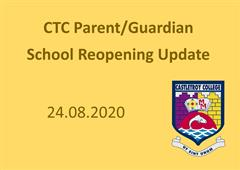 CTC Parent/Guardian Update 24.08.2020