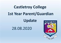 CTC First Year Parent/Guardian Update