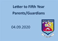 Letter to 5th Year Parents/Guardians