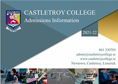 Admissions Information 2021-22