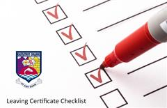 Leaving Certificate Student Checklist