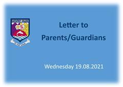 Letter to Parents 19.08