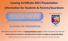 Leaving Certificate 2021 Presentation for Students & Parents